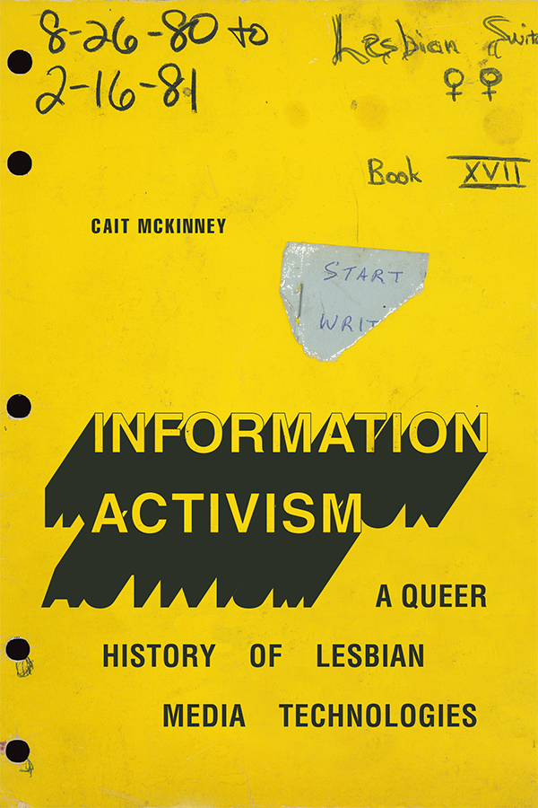 Cover of Information Activism Book: Design is a riff on an old spiral-bound notebook